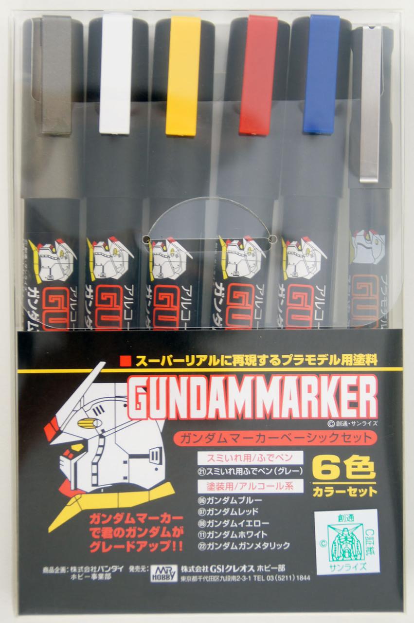 Mr Hobby Gundam Marker Set - Basic Set