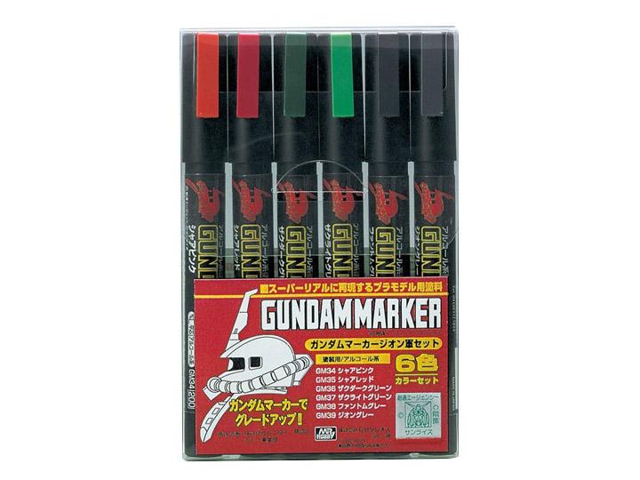 Mr Hobby Gundam Marker Set - Zeon Marker