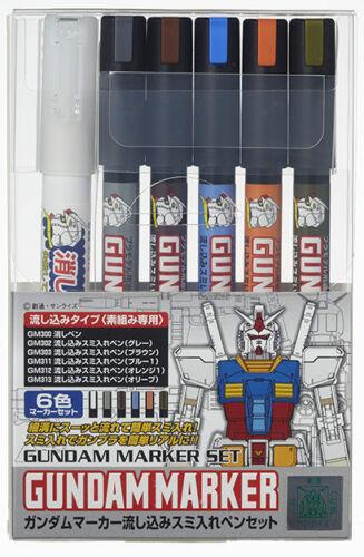 Mr Hobby Gundam Marker Set - Gundam Pouring Marker Set