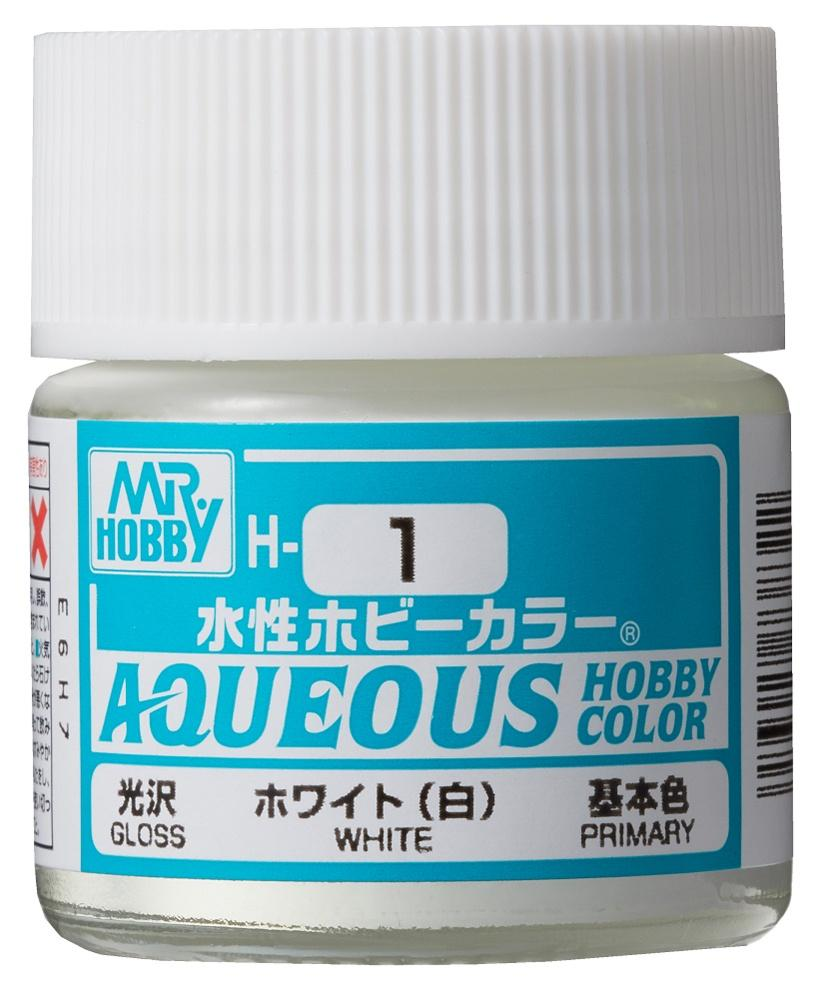 Mr Hobby Aqueous Color H1 Gloss White 10ml Bottle