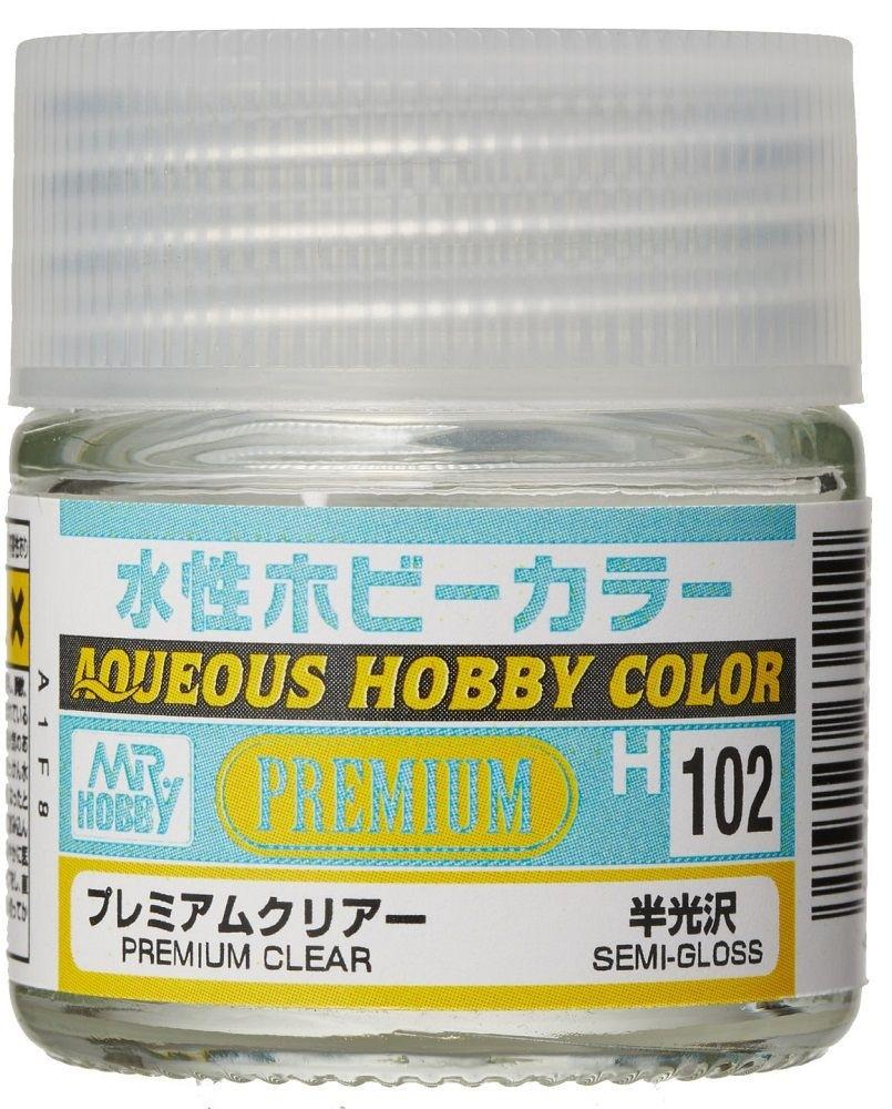 Mr Hobby Aqueous Color H102 Premium Clear Semi Gloss
