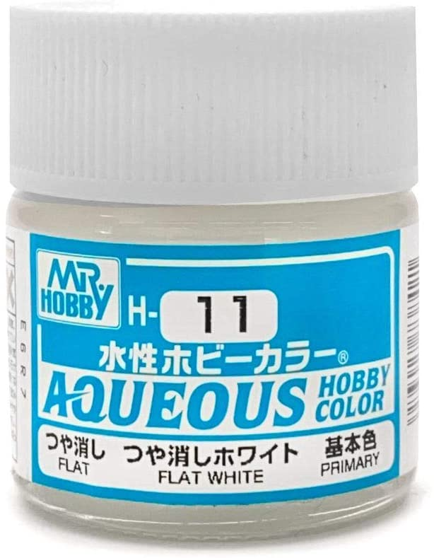 Mr Hobby Aqueous Color H11 Flat White 10ml Bottle