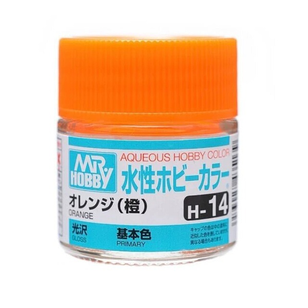 Mr Hobby Aqueous Color H14 Gloss Orange 10ml Bottle