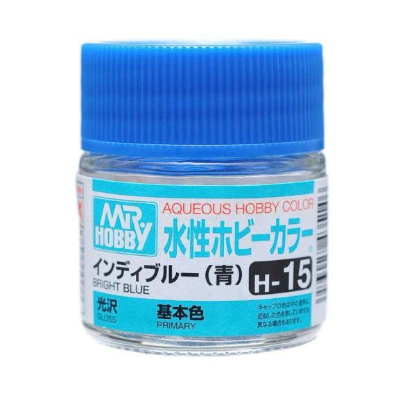 Mr Hobby Aqueous Color H15 Gloss Bright Blue 10ml Bottle