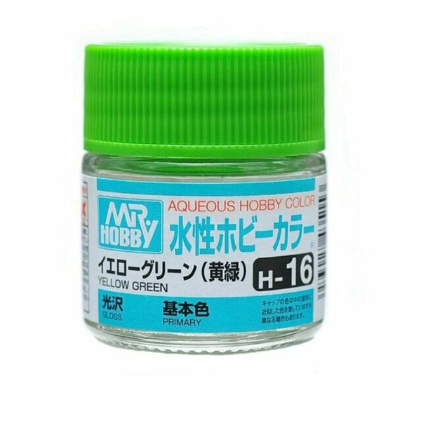 Mr Hobby Aqueous Color H16 Gloss Yellow Green 10ml Bottle