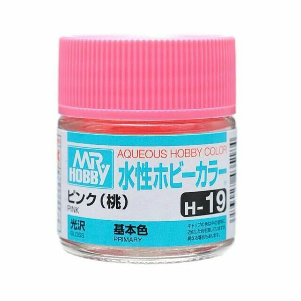 Mr Hobby Aqueous Color H19 Gloss Pink 10ml Bottle
