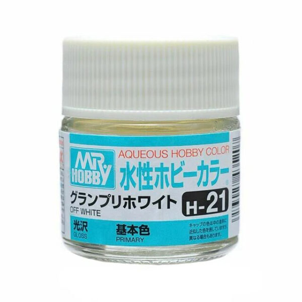 Mr Hobby Aqueous Color H21 Gloss Off White 10ml Bottle