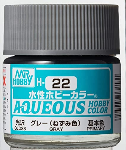 Mr Hobby Aqueous Color H22 Gloss Gray 10ml Bottle