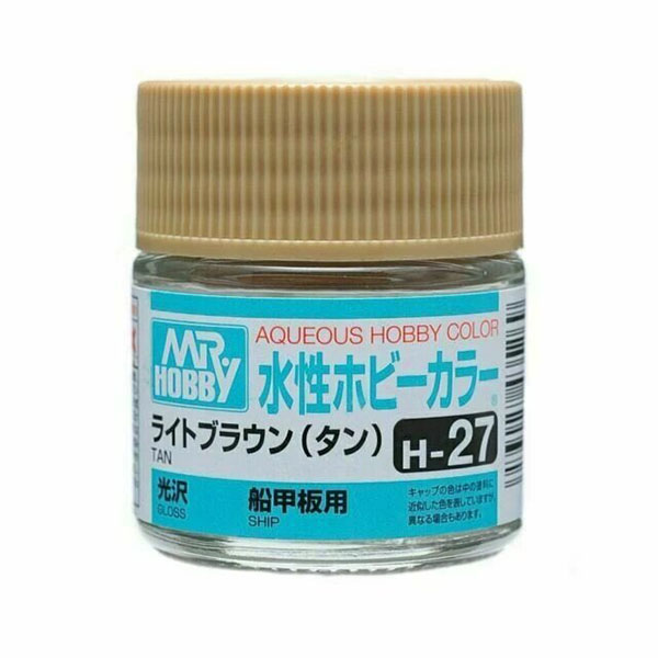 Mr Hobby Aqueous Color H27 Gloss Tan 10ml Bottle