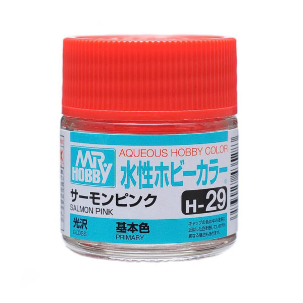 Mr Hobby Aqueous Color H29 Gloss Salmon Pink 10ml Bottle