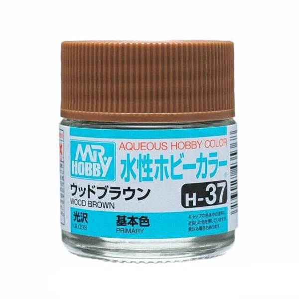 Mr Hobby Aqueous Color H37 Gloss Wood Brown 10ml Bottle