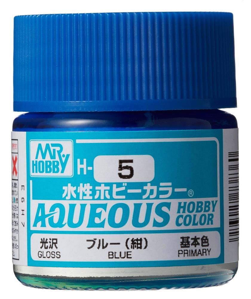 Mr Hobby Aqueous Color H5 Gloss Blue 10ml Bottle