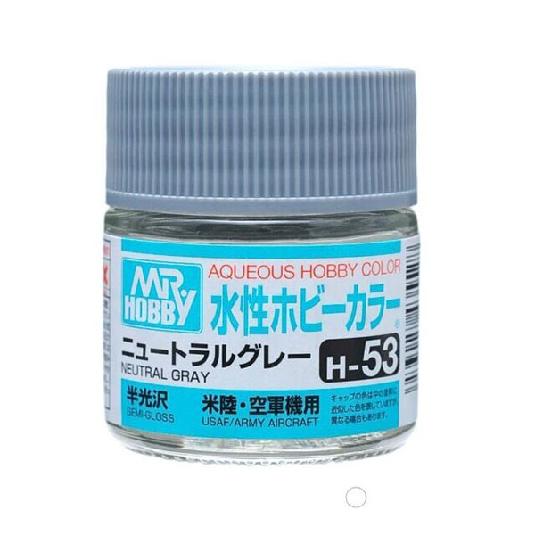 Mr Hobby Aqueous Color H53 Semi-Gloss Neutral Gray 10ml Bottle
