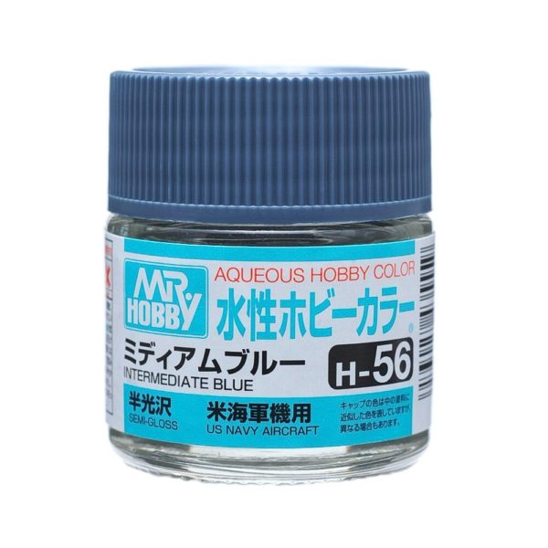 Mr Hobby Aqueous Color H56 Semi-Gloss Intermediate Blue 10ml Bottle