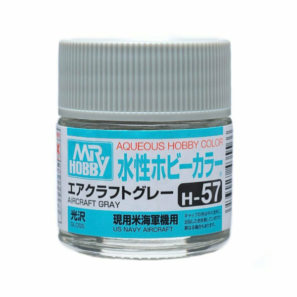 Mr Hobby Aqueous Color H57 Gloss Aircraft Gray 10ml Bottle