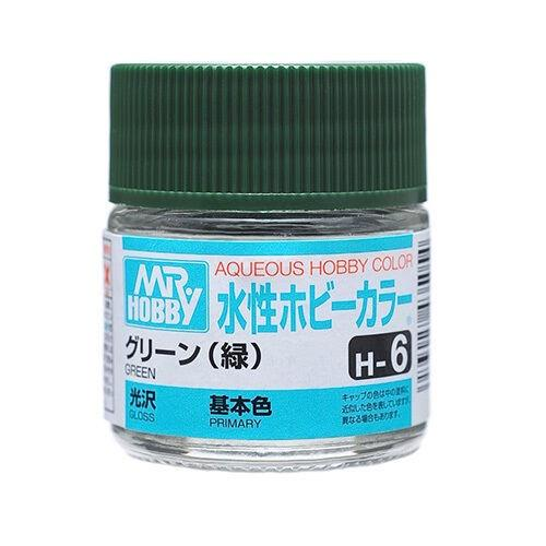 Mr Hobby Aqueous Color H6 Gloss Green 10ml Bottle
