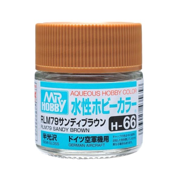 Mr Hobby Aqueous Color H66 Semi-Gloss RLM79 Sandy Brown 10ml Bottle