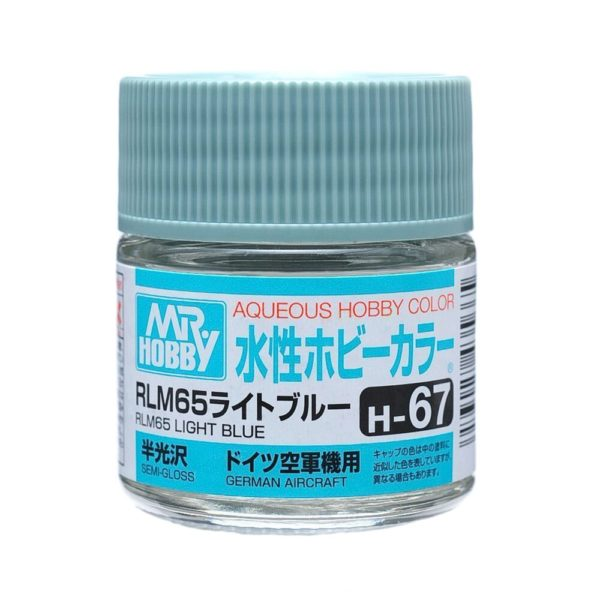 Mr Hobby Aqueous Color H67 Semi-Gloss RLM65 Light Blue 10ml Bottle
