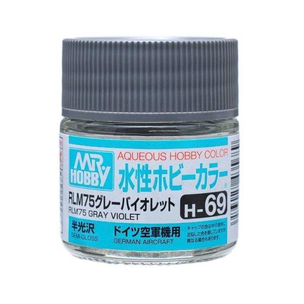 Mr Hobby Aqueous Color H69 Semi-Gloss RLM75 Gray Violet 10ml Bottle