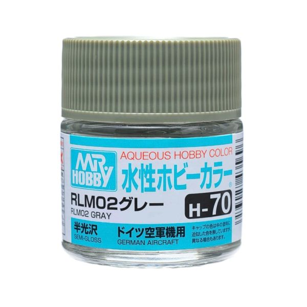 Mr Hobby Aqueous Color H70 Semi-Gloss RLM02 Gray 10ml Bottle