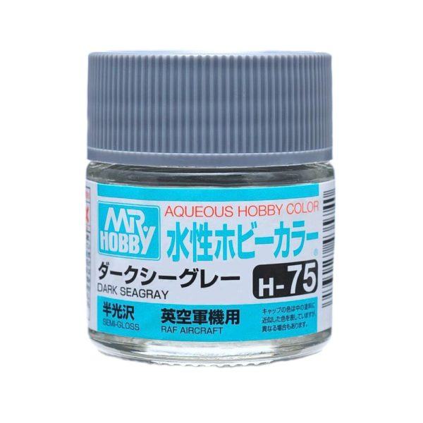 Mr Hobby Aqueous Color H75 Semi-Gloss Dark Sea Gray 10ml Bottle