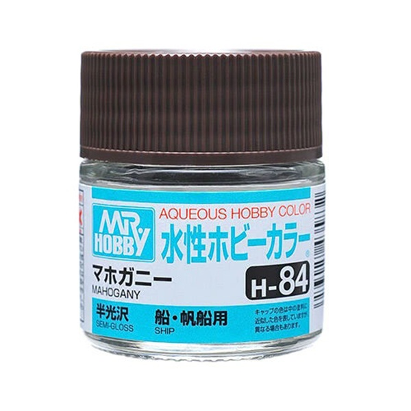 Mr Hobby Aqueous Color H84 Semi-Gloss Mohagany 10ml Bottle