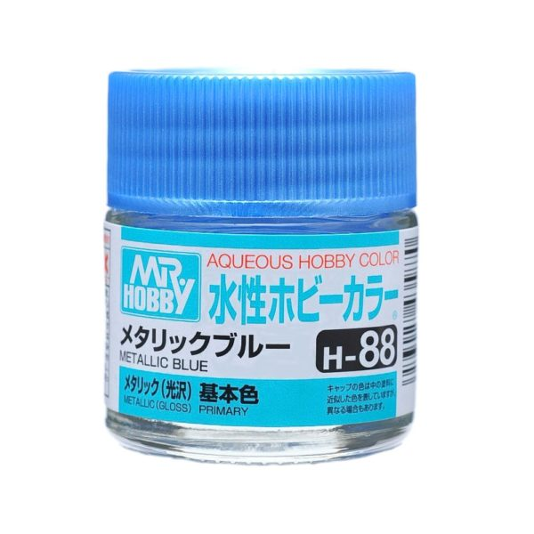 Mr Hobby Aqueous Color H88 Metallic Blue 10ml Bottle