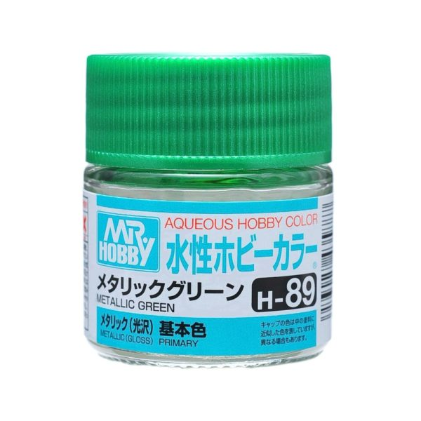 Mr Hobby Aqueous Color H89 Metallic Green 10ml Bottle