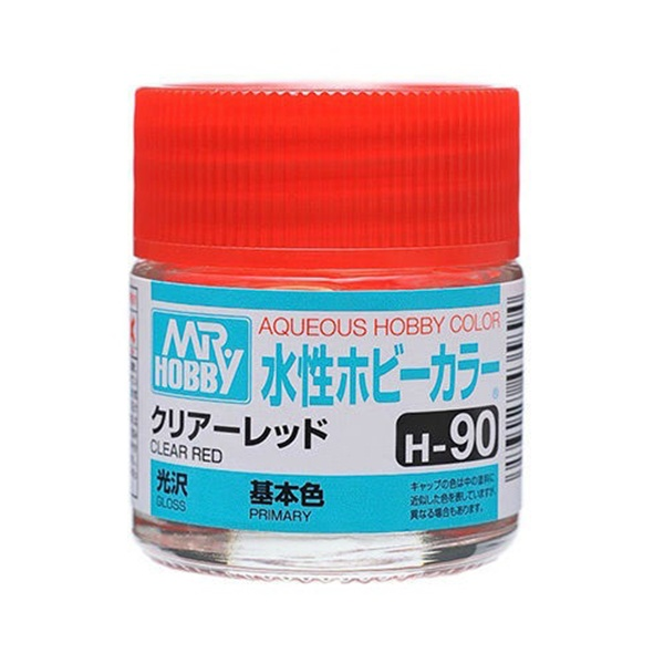 Mr Hobby Aqueous Color H90 Gloss Clear Red 10ml Bottle