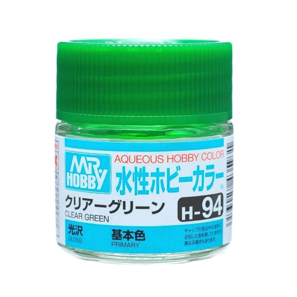 Mr Hobby Aqueous Color H94 Gloss Clear Green 10ml Bottle