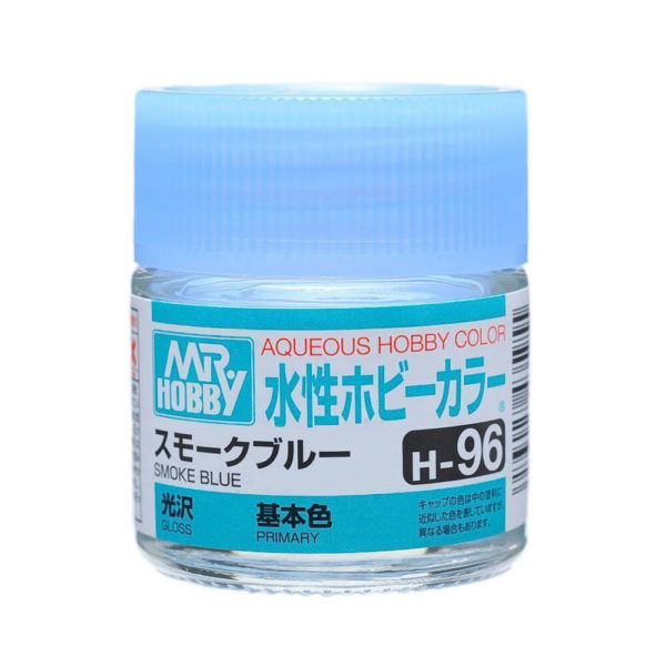 Mr Hobby Aqueous H96 Gloss Smoke Blue 10ml Bottle, GSI Aqueous Color