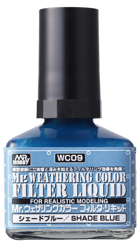 Mr Hobby Mr. Weathering Color - Filter Liquid Blue - 40ml