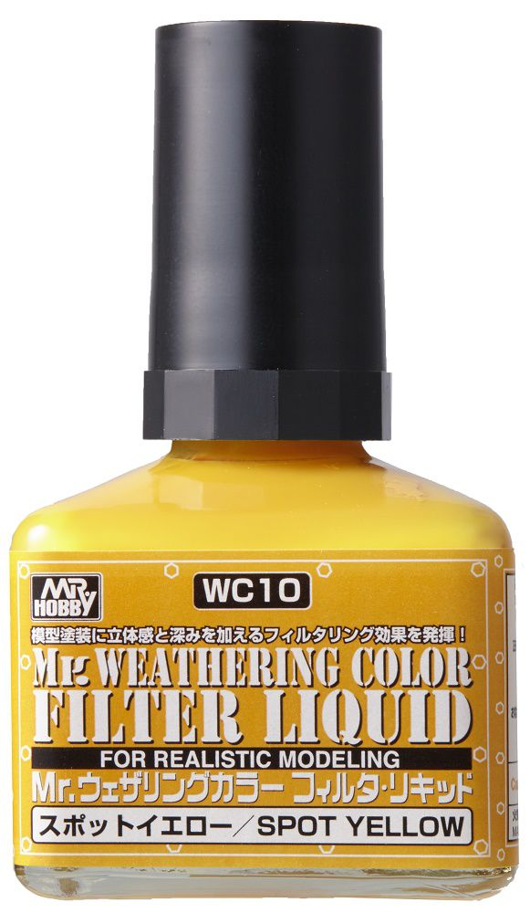 Mr Hobby Mr. Weathering Color - Filter Liquid Yellow - 40ml