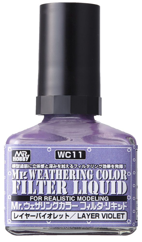 Mr Hobby Mr. Weathering Color - Filter Liquid Violet - 40ml