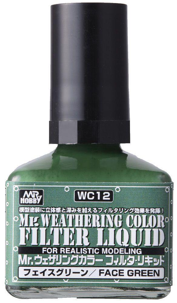 Mr Hobby Mr. Weathering Color - Filter Liquid Green - 40ml