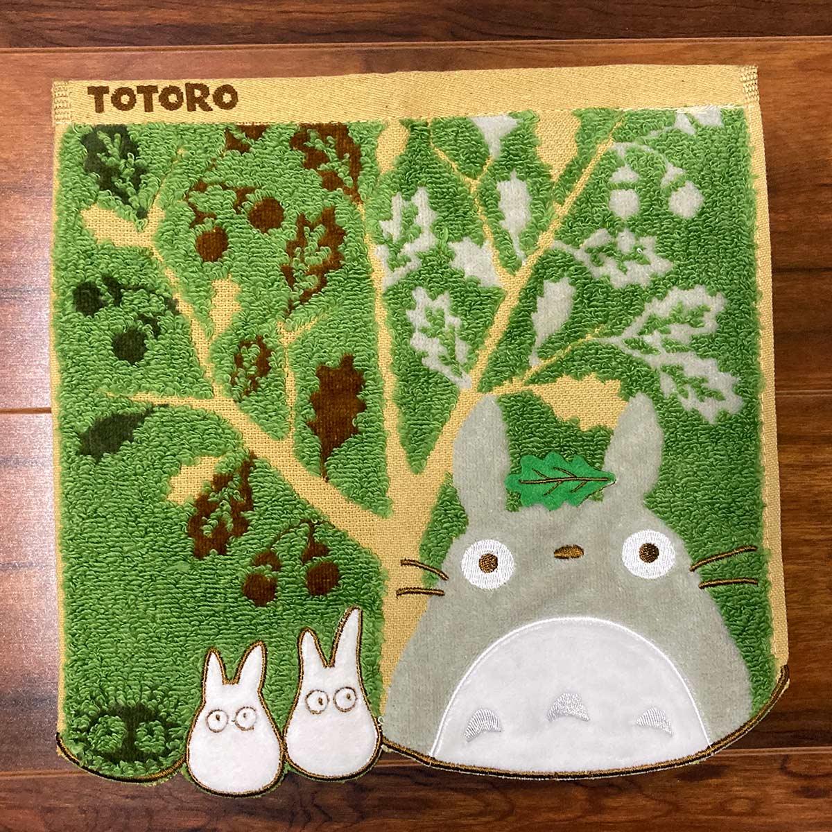 "Marushin Totoro and Acorn Tree Mini Towel ""My Neighbor Totoro"""