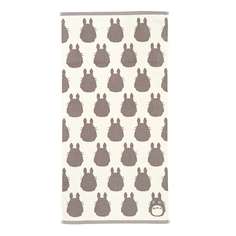 "Marushin Studio Ghibli Silhouette Towel Series Big Grey Totoro - (Bath Towel) ""My Neighbor Totoro"", Size: 23.6"" x 47.24"""