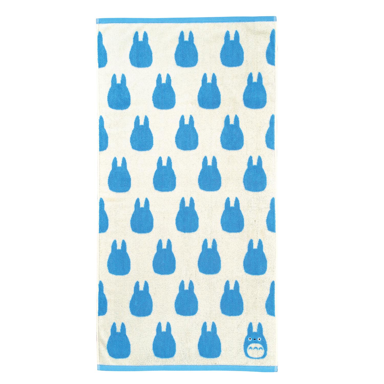 "Marushin Studio Ghibli Silhouette Towel Series Medium Blue Totoro - (Bath Towel) ""My Neighbor Totoro"", Size: 23.6"" x 47.24"""