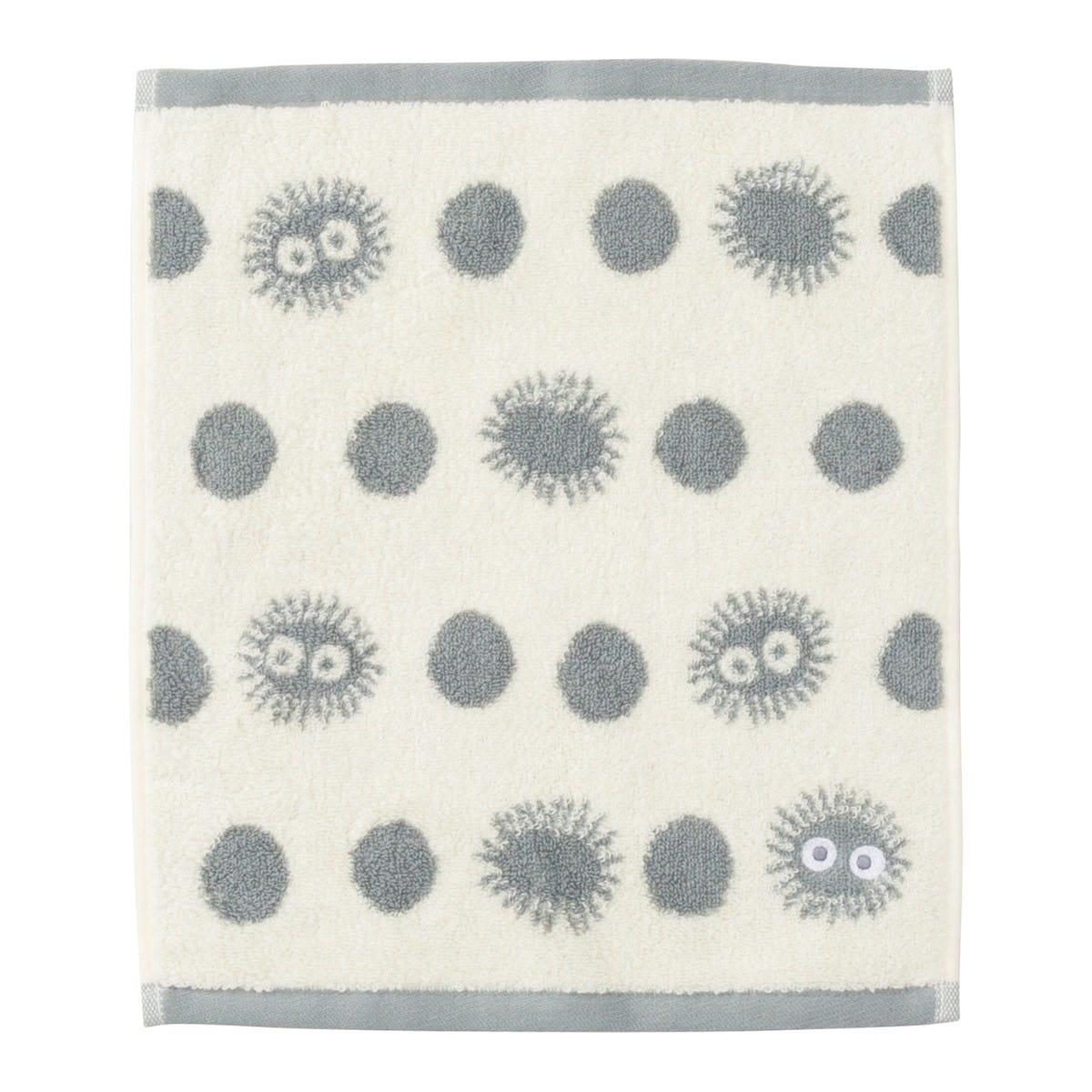 "Marushin Studio Ghibli Silhouette Towel Series Soot Sprite - (Wash Towel) ""My Neighbor Totoro"", Size: 13"" x 14.17"""