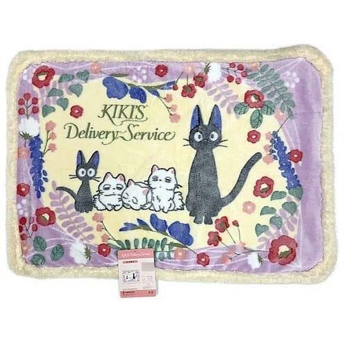 "Marushin Jiji and the Kittens (Medium Size Sherpa Blanket) ""Kiki's Delivery Service"""