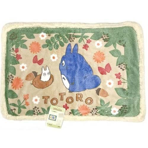 "Marushin Totoro In the Bushes (Medium Size Sherpa Blanket) ""My Neighbor Totoro"""