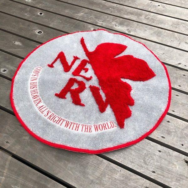 """Marushin Nerv Logo Floor Mat """"Evangelion"""""""