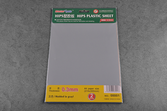 Master Tools 0.3mm HIPS PLASTIC SHEET A4 SIZE (210mm*300mm*2PCS)