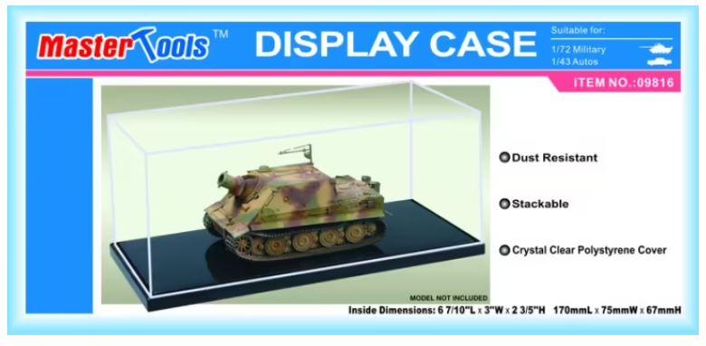 Master Tools Display Case 170mm x 75mm x 67mm
