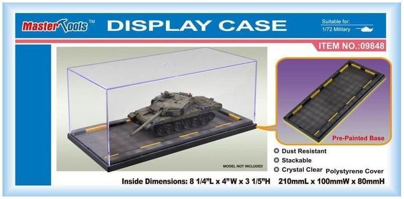 Master Tools Display Case 210X100X80mm w/ Pre-painted Base