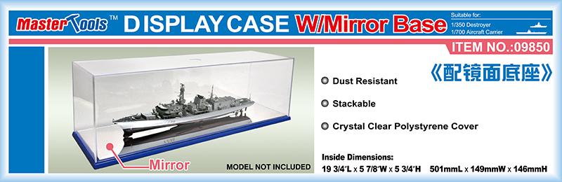 Master Tools Display Case w/ Mirror Base 501x149x146mm WxL Display Case w/ Mirror Base