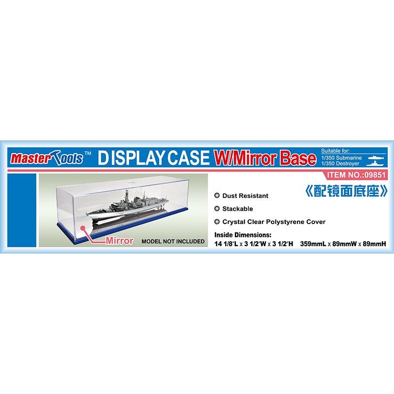 Master Tools Display Case w/ Mirror Base 359x89x89mm WxL Display Case w/ Mirror Base