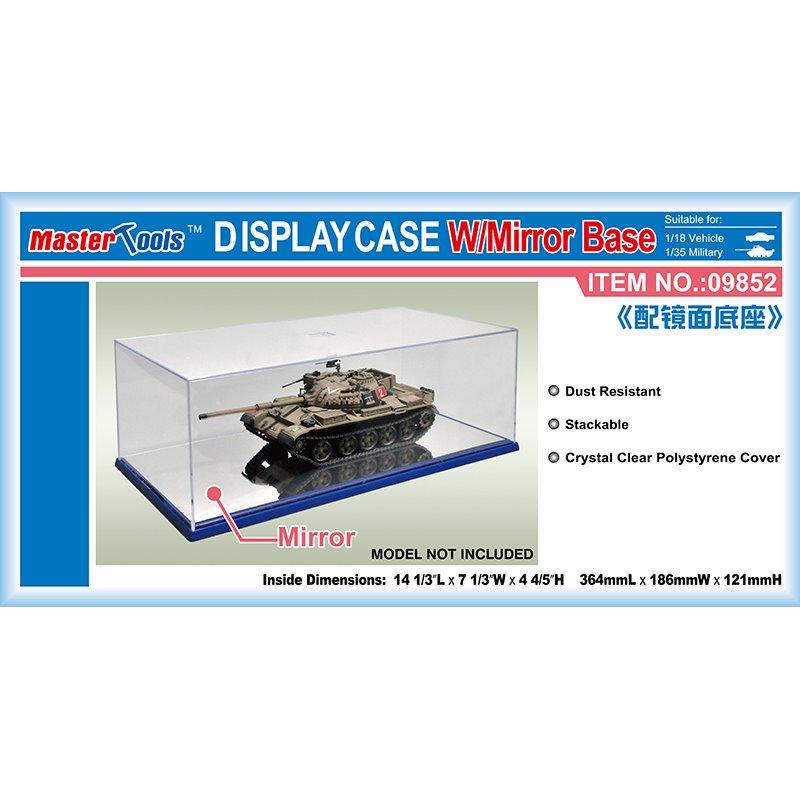 Master Tools Display Case w/ Mirror Base 364x186x121mm WxL Display Case w/ Mirror Base