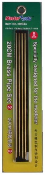 Master Tools 20cm Brass Pipe Set 2--0.7,0.8,0.9,1.0*8