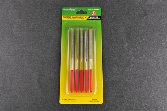 Master Tools Assorted diamond files set (Grit size:150#,  5pcs)-_3*140mm